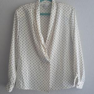 Vtg L'ES CAMILLES New York blouse size 14